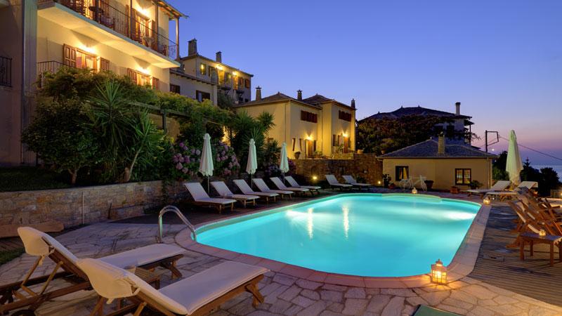 Pilion Ferienhäuser in Griechenland mit pool